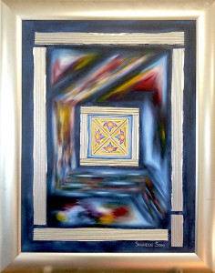 [Code:S003] [Medium:Oil-on-Canvas] [Size:800x600mm] [Artist:Shaheen-Soni] [Price:R2800]