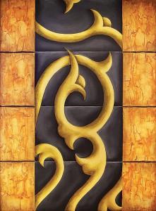 [Code:S297] [Medium:Acrylic-on-Canvas] [Size:1260x920mm] [Artist:Shaheen-Soni] [Price:R5200]
